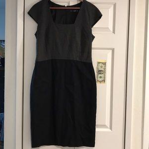 NWOT Mango grey/black dress Large